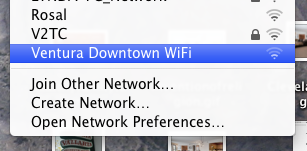 Free Downtown Ventura WiFi