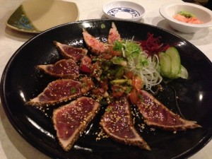 Peppered Tuna with Salsa